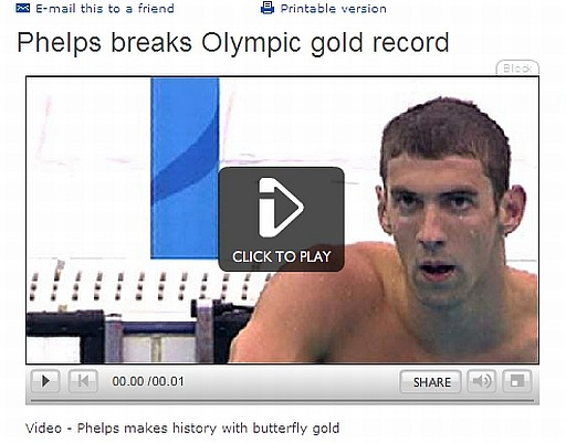 The BBC places a video or other interactive element at the top of its stories