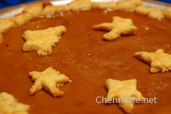 pastry stars on pumpkin pie