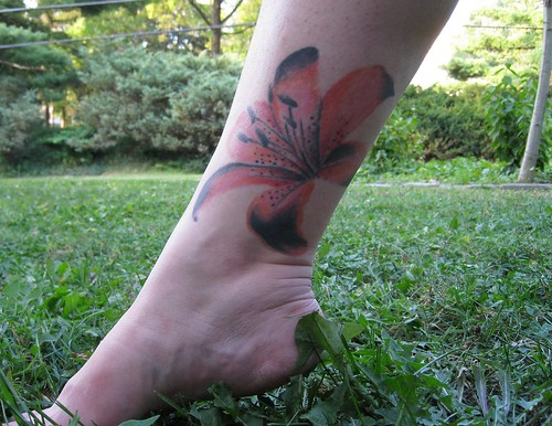 Orange Flower (Tiger Lily) Tattoo