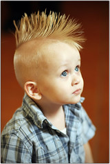 Trouble Maker (Extra Medium) Tags: wedding boy kid eyes child innocent mohawk 2yearsold debbietim