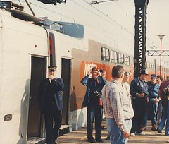 May 1990 Central Electric Railfans association Chartered fantrip on the Metra ( ex Illinois Central) electric commuter lines. Chicago Illinois.