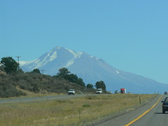 Mt. Shasta from the car window