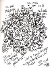 "YDC Mandala - You are stronger than it.... (Stephanie ""Biffybeans"" Smith) Tags: color art classic water fountain pen ink watercolor sketch energy artist emotion random spirit journal going mandala cant safari doodle stop artists marker hours 24 16 pitt seem confusion probably lots fabriano mantra lamy castell faber mandalas unchecked i"