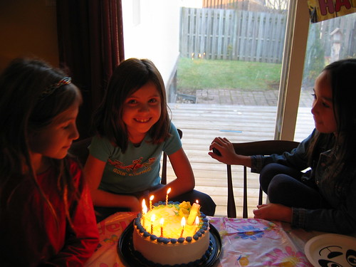 Birthday cake glow