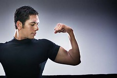 awesome biceps (SkinnyGuyWorkoutPlan) Tags: portrait muscles standing asian adult serious muscular gesturing posing health strong strength studioshot brunette biceps fitness trainer wellness flexing headandshoulders midadultman onepersononly 2530years 3035years 23868463