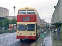 Grim day, in a grim City Centre. (Renown) Tags: buses plymouth devon coaches doubledecker leyland mcw wetday atlantean metrocammell plymouthcitybus pdr1 plymouthcitytransport tco537 plymouthcorporation