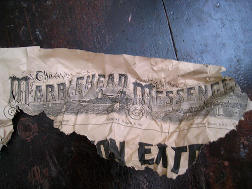 Old Newspaper found in below Bathroom Floorboards