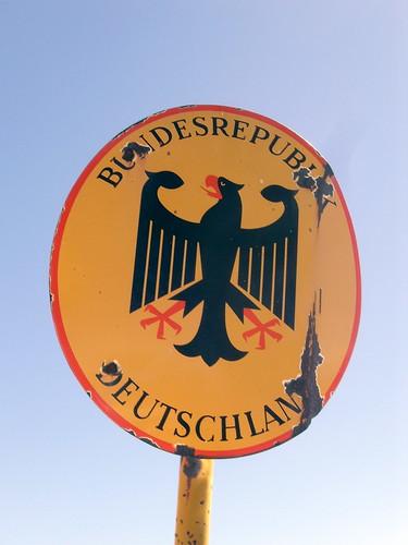 Zugspitze: Grenze an Deuschland (frontier Germany)