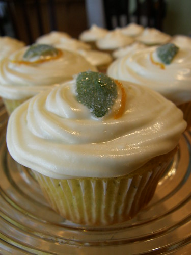 Lemon poppyseed cupcake with Orange Basil syrup & Orange Basil Cream cheese frosting