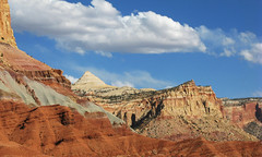 Capitol Reef National Park (anadelmann) Tags: bridge cliff usa canon landscape drive utah ut arch hiking scenic bridges arches canyon hike fremont cliffs trail dome spike fold colourful navajo capitolreef capitolreefnp domes monolith landschaft wrinkle canyons spikes monoliths jumble canonpowershot capitolreefnationalpark fruita eroded waterpocketfold falte capitolgorge highway24 scenicdrive blueribbonwinner v1000 g9 hickmanbridge fremontriver verwerfung anawesomeshot landofthesleepingrainbow theunforgettablepictures waynewonderland overtheexcellence canonpowershotg9 tup2 hickmanbridgetrail anadelmann f5099