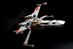 T65 Incom X-Wing Space Superiority Starfighter (sonictk) Tags: lighting d50 star model nikon fighter ship space tie lucas xwing wars skywalker incom