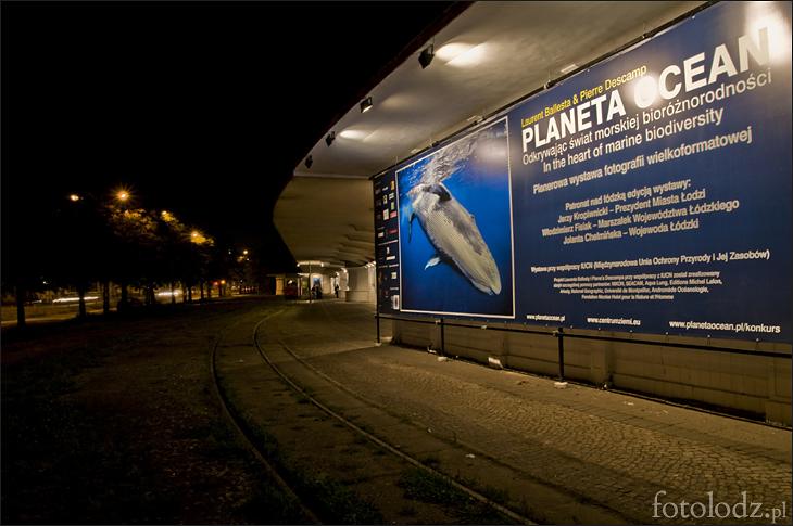 Planeta Ocean na starej krańcówce w parku Staromiejskim w Łodzi