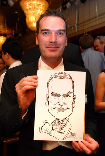 Caricature live sketching for Standard Chartered Bank Legal Learning Event 6