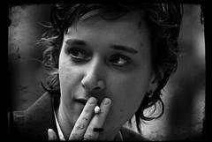 Exhale (Prabhu B Doss) Tags: portrait blackandwhite bw texture nikon candid smoking nikkor 70300mm brussel bnw prabhu ttv d80 70300vr prabhub prabhubdoss prabhuboomibalagadoss zerommphotography 0mmphotography