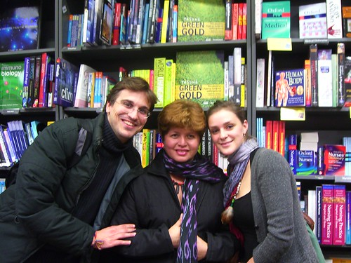 In Waterstone's with Georgie, Gines and The Book!