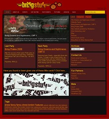 Halloween Bring Stuff website design