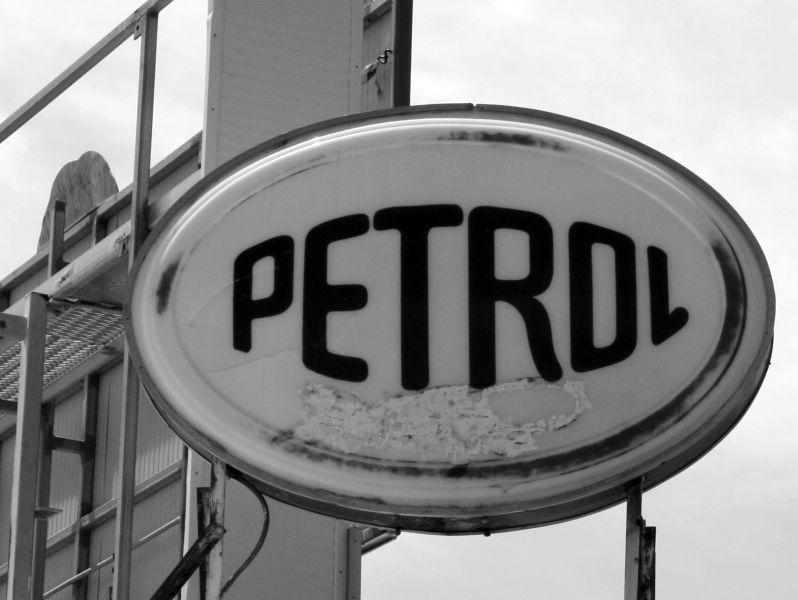 Petrol sign 800 closeup