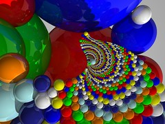 Virtual multicolor twist (fdecomite) Tags: color circle geometry packing sphere math inversion multicolor povray imagej