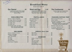 Holiday Inn Breakfast Menu, 1968' (The Pie Shops Collection) Tags: food breakfast vintage menu florida motel melbourne scan holidayinn 1968