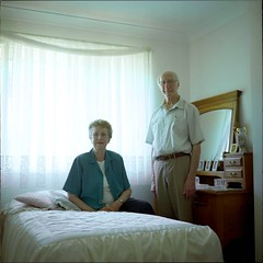 Joy and Doug. (Stu.Brown) Tags: portrait 6x6 rollei rolleiflex mediumformat square kodak sl66 portra 400nc