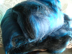 Butterfly girl- Fiber- Blue Morpho