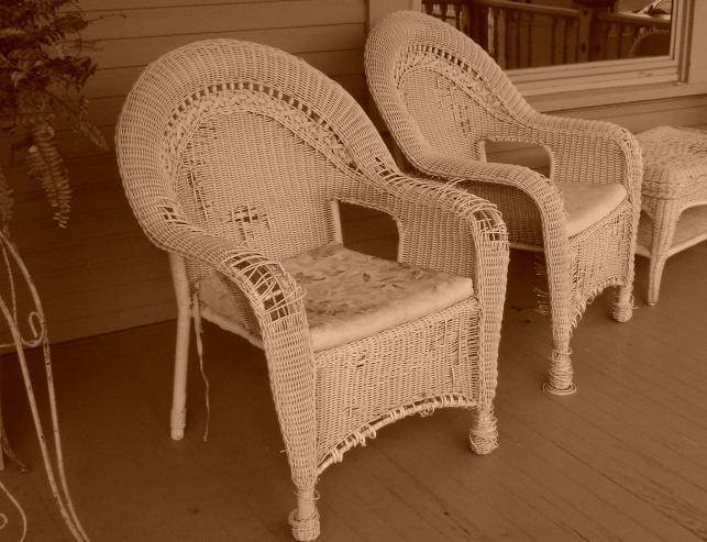 Kirby House Front Porch Wicker