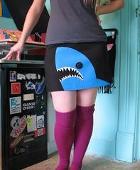 shark mini skirt (~aorta~) Tags: shark clothing mini skirt applique aorta