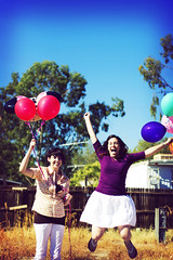 ({bright fizz}) Tags: portrait jump balloon sp 30secretsin30days