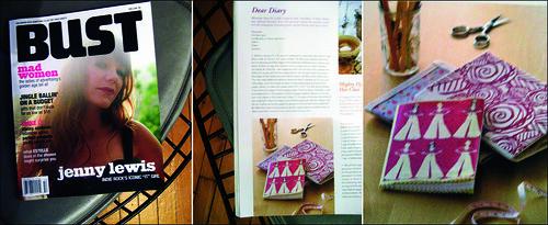 my mini journals in Bust Magazine