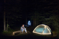 Camp Glow (Erik Lawrence) Tags: light camp nikon glow wizard d70s remote pocket strobe platterblogin