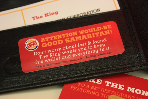 Burger King Wallet