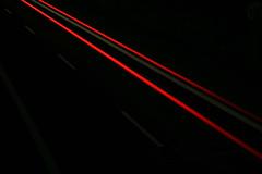 Highway Trail... (Audiotribe) Tags: longexposure light red abstract blur color cars colors car electric night digital canon denmark lights lampe licht highway exposure glow colours carretera snake lumire alien traces trails experiment autobahn led trail flare autoroute trippy 1785mm lys danmark eyecandy bluelight bikelight cahaya svjetlo rodovia ligero ljus  lystrup 8250 eg ledlight  motorvej slange   eos400d electricoctopus eos400  exposureeffect   qucl lysspor