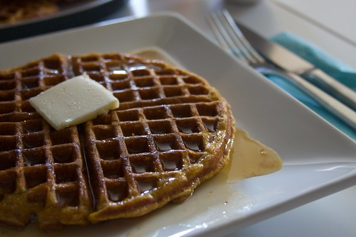 pumpkin waffle!
