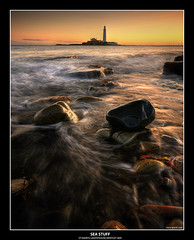 SEA STUFF (Steve Boote..) Tags: longexposure sea lighthouse seascape seaweed sunrise coast rocks north east northumbria coastline hdr stmarys whitleybay tynewear photomatix sigma1020 abigfave anawesomeshot theperfectphotographer samsunggx20