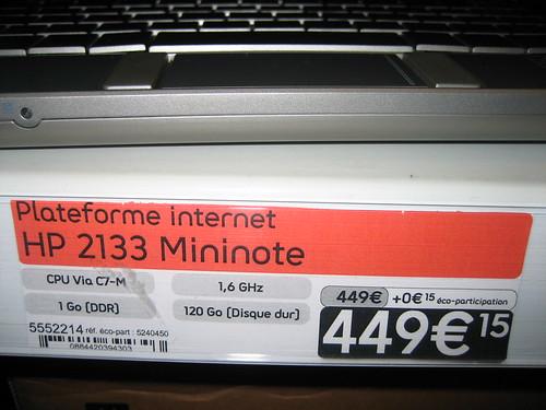 HP Mininote 2133 Netbook 8