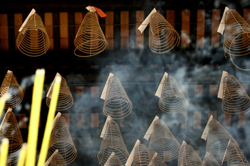 incense coils above