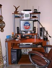 Ham Radio Station KO9T (Hammer51012) Tags: station radio computer olympus ham shack amateur sp570uz ko9t
