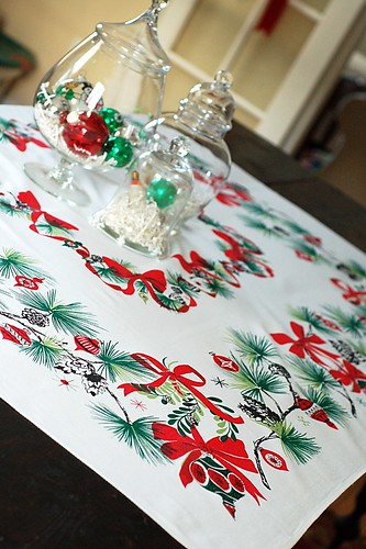 Vintage table cloth.