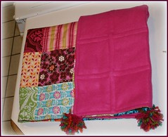 pink fleece backing
