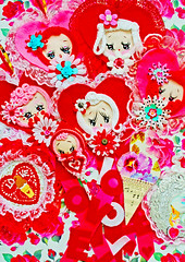 Dolly Dangles (boopsie.daisy) Tags: pink flowers red roses holiday ice vintage hearts doll pretty dolls day heart sweet cone lace cream inspired kitsch valentine ornaments daisy valentines sweethearts decor dollies frilly frills boopsie boopsiedaisy hangies