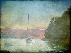 Dreaming in Portofino (klausthebest) Tags: sea sky italy texture photoshop boat italia liguria digitalart dream atmosphere portofino italians blueribbonwinner mywinners worldbest visiongroup holidaysvacanzeurlaub theunforgettablepictures betterthangood theperfectphotographer multimegashot vision100 oraclex goldenart thedantecircle themonalisasmile