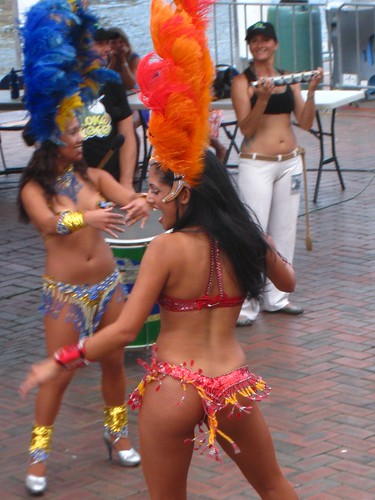 Samba dancers perform at Darling Harbour, Sydney