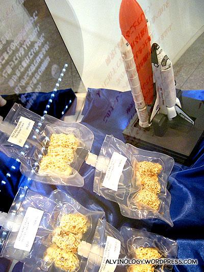 Instant noodles for spacemen