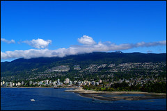prospect point view (aloalo*) Tags: ocean blue sky canada mountains water vancouver clouds landscape bc view olympus stanleypark prospectpoint mywinners
