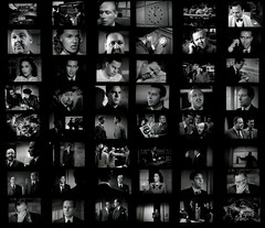 Another Noir Story in Faces (Dill Pixels) Tags: bw cinema film collage movie grid frames screenshot noir hollywood contactsheet namethatfilm named frameup ntf thebigclock NTF:guessedby=bluefish321 namedbybluefish321