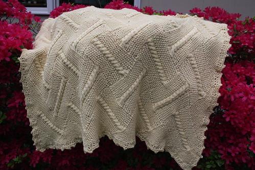 Debbie Bliss Entrelac Baby Blanket