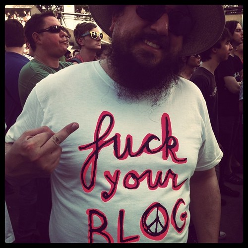 "Greg Baise says ""Fu*k your Blog."""
