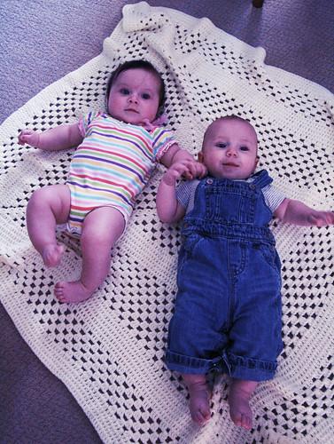 Jonas @ 5 months + Baby Vera