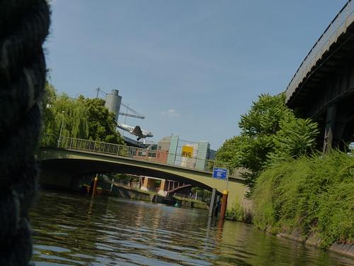 Schiffstour durch Berlin - im Landwehrkanal mit Museum für Verkehr und Technik