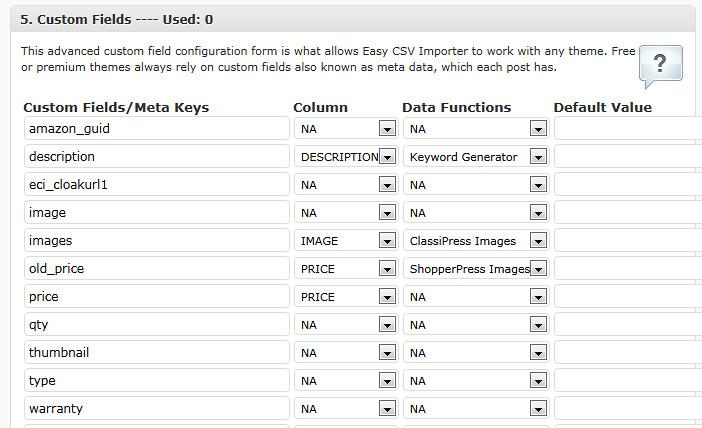 Custom Fields for Easy CSV Importer